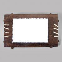 Фотокамень с деревянной рамкой 180х260 мм