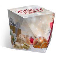 Коробка под водяной шар «Новогодний подарок»