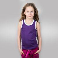 Майка детская х/б фиолетовая (34) 122-128