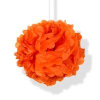 Помпон оранжевый h40см