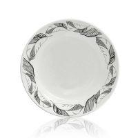 Тарелка для сублимации керамика белая с орнаментом Перья 200мм