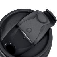 Термостакан пластик чёрный под полиграф вставку 350 мл